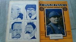 Le Pays De France N°239 Général Estienne Fortifications De Paris 1919 Guerre  Ww1 Caricature - Guerre 1914-18