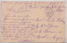 TROESNES (Aisne) - Mairie Et Ecole - Cachet Militaire Service Des G.V.C. Subdivision De Soissons Groupe 1 VIe Région - Frankreich