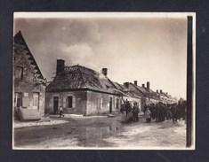 Photo Originale Guerre 14-18 EBOULEAU (02) - Extinction Incendie Maison Par Soldats Allemands Tuyau Eau Pompier Echelle - Guerre, Militaire