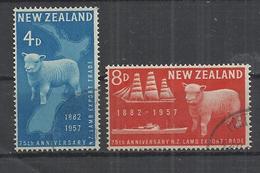 NEW ZEALAND 1957 - 75 YEARS LAMB EXPORT TRADE - CPL. SET - USED OBLITERE GESTEMPELT USADO