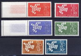 A4579) CEPT Europa 1961 3 Verschiedene Ausgaben ** - 1961