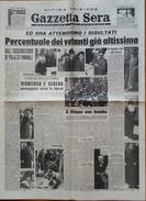 GIORNALE - GAZZETTA SERA - QUOTIDIANO INDIPENDENTE - ELEZIONI 3-4 GIUGNO 1946 - VISITIAMO I 573 SEGGI ELETTORALI - Libri, Riviste, Fumetti
