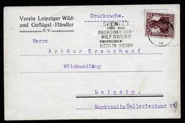 A4580) Oberschlesien Karte Von Leipzig 12.9.21 Werbung Oberschlesier-Hilfswerk - Deutschland