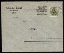 A4582) Oberschlesien Brief Von Erfurt 26.9.21 Werbung Oberschlesier-Hilfswerk - Abstimmungsgebiete