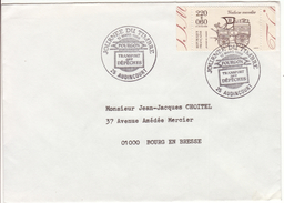 DOUBS  - 25 Audincourt - Enveloppe  - Cachet Commémoratif - Journée Du Timbre - 1988 - Marcophilie (Lettres)