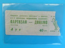 FK PARTIZAN : DYNAMO Kyiv Kiev Ukraine - 1976. UEFA CHAMPIONS LEAGUE Football Soccer Ticket Billet Foot Fussball Ukraina - Match Tickets