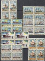 1972.58 CUBA MNH 1972. Ed.1989-95 BARCOS OLD SHIP CARABELAS GALEON GALEAZA CLIPPER PAQUEBOT DRAKAR BLOCK 4. - Cuba