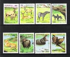 CONGO REPUBLIQUE DU (1993) - LOT OF 8V (**MNH) - ANIMAUX D'AFRIQUE / AFRICAN WILDLIFE - Timbres