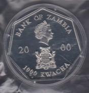 M 532) Sambia Zambia 2000: 7-eckige Kalender-Münze 2001, 1000 Kwacha Cu/Ni 40 Mm - Sambia