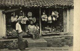 NATIVE FRUIT SHOP  COLOMBO    Ceylon Sri Lanka - Sri Lanka (Ceilán)