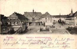 Fulda, Schloß U. Bonifaciusdenkmal, 1902 - Fulda