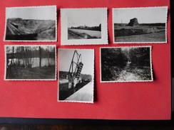 Lot 6 Photos Anciennes De Pont A Celles / Sablonnière / Briqueterie / Pont Du Canal / Bois / Etang De La Chaussée /Canal - Pont-a-Celles