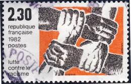 2204 LUTTE Contre Le RACISME OBLITERE ANNEE 1982 - Frankreich