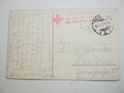 1917 , Wiesbaden, Klarer Stempel Auf Feldpostkarte Mit Truppensiegel - Brieven En Documenten