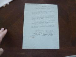 Révolution Certification 29ème Brigade De Ligne Aby 13 Messidor An 9 Autographes Dont Mont Serraz Citoyen Chiarizia - Documents