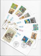 """Enveloppes  1er Jour FDC .1993  7 Enveloppes """"Le Plaisir D'écrire"""" - FDC"""
