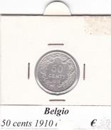 BELGIO   50 CENTS 1910  COME DA FOTO - 1909-1934: Alberto I