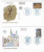 "Enveloppes  1er Jour FDC .1993 2 Enveloppes ""UNESCO"" - 1990-1999"
