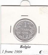 BELGIO   1 FRANC 1909  COME DA FOTO - 1865-1909: Leopoldo II
