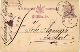 23672. Entero Postal Privado MAINHARDT (Wurtemberg) 1883. Privat Postkarte - Wurtemberg