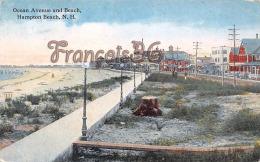 Ocean Avenue And Beach - Hampton Beach - NH New Hampshire - Etats-Unis