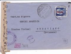 Italien 1944 Aufdruck: Liktorenbündel  Rot. Mi:75. Geöffnet Von OKW - Entiers Postaux