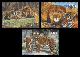 Tajikistan 2017 Mih. 750/52 Fauna. Wild Cats. Lions And Tigers MNH ** - Tadschikistan