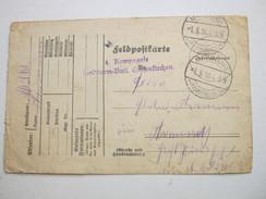 1916 , Landsturm Batl.  GELSENKIRCHEN , Klarer Stempel Auf Feldpostkarte Mit Truppensiegel Aus Belgien - Brieven En Documenten