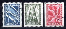 1953 SWEDEN TELEGRAPH CENTENARY MICHEL: 385-387 USED