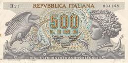 Banconote 500 Lire  - Repubblica Italiana. - [ 2] 1946-… : Repubblica
