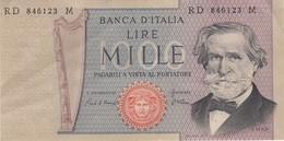 Banconote  Lire. Mille , G.verdi - Repubblica Italiana. - [ 2] 1946-… : Repubblica
