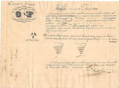"""1839 - CANNES (06) - Connaissement - Navire """"L'Union"""" - Documents Historiques"""