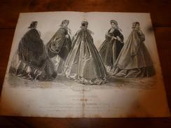 1861-1862  Gravure Avec Notice  : Planche De Confection De La Maison GAGELIN (manteaux,chapeaux,pardessus,capote,etc) - Other