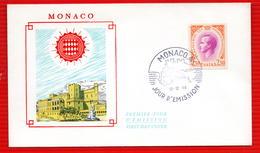 MONACO RAINIER III  12 12 1966 - FDC