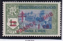 Inde N° 199 Neuf * - FRANCE LIBRE - Indien (1892-1954)