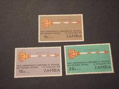 ZAMBIA - 1973 CONFERENZA  2 VALORI - NUOVI(++) - Zambia (1965-...)