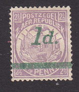 Transvaal, Scott #163, Mint No Gum, Coat Of Arms Surcharged, Issued 1895 - South Africa (...-1961)