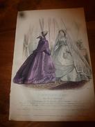 1864  Gravure De Jules David Avec Notice  : Planche De Confection De La Maison GAGELIN - Vieux Papiers