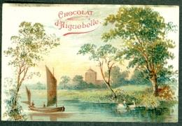 Chromo Chocolat Aiguebelle Paysage Barque Landscape TBE - Aiguebelle