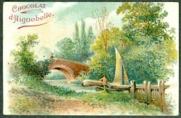 Chromo Chocolat Aiguebelle Paysage Pont Barque Landscape TBE - Aiguebelle