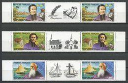 POLYNESIE 1987 N° 292A/294A ** Neufs MNH Superbes Missionnaires Catholiques - French Polynesia