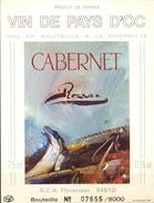 591 - France - Vin De Pays D'Oc - Cabernet Ressac - S.C.A. Florensac 34510 - Vin De Pays D'Oc