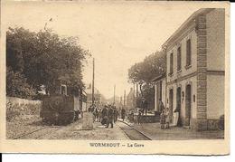 CPA  WORMHOUT, La Gare, Train à Quai 13285 - Wormhout