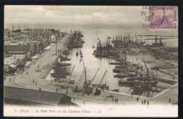 CPA TUNISIE  -SFAX-  Le Petit Port Vu Du Chateau D'Eau - Edit LL N° 5- - écrite 1920 -Paypal Sans Frais - Tunisia