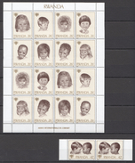 P96 1979 RWANDA ANNEE INTERNATIONALE DE L'ENFANT CHILDREN 2ST+1SH MNH
