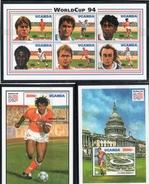Uganda 1994 --Coppa Del Mondo 94 -- Yvert 1080/85 +BF197/98 **MNH/ VF - World Cup