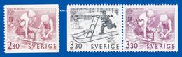 SWEDEN 1989 EUROPA  CHILDREN AT PLAY  U.M.  FACIT 1556-1558 - Suède