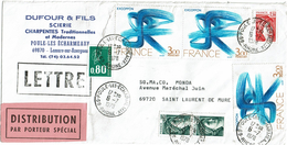 """LBON12 - LETTRE COMMERCIALE ETIQUETTE """"DISTRIBUTION PAR PORTEUR SPECIAL"""" JUILLET 1978 - France"""