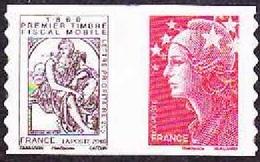 France Autoadhésif N°  507,P ** Paire Centrale. Beaujard Et Mercure De Cabasson, Premier Timbre Fiscal Mobile - Frankreich