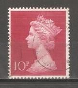 Great Britain 1970,Machin Definitive 10p Large Size ,Sc MH165 ,USED - 1952-.... (Elisabetta II)